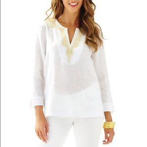 Lilly Pulitzer   Linen Amelia Island Tunic